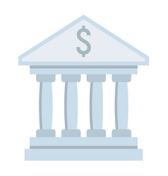 Bank building flat icon business and finance vector