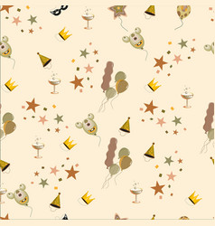 birthday background seamless vintage vector image vector image