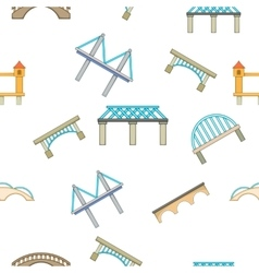 Bridge pattern cartoon style vector