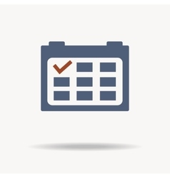 Calendar icon with red point flat design vector image vector image