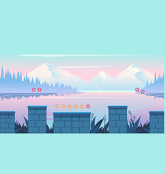 Cartoon nature landscape seamless background for vector