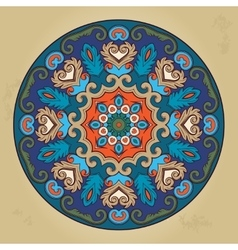 Colorful ethnic round ornamental mandala vector image vector image