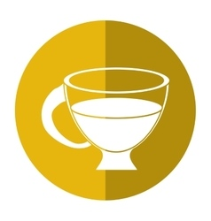 cup espresso hot beverage-circle icon shadow vector image