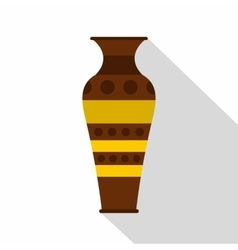 Egyptian pottery vessel icon flat style vector