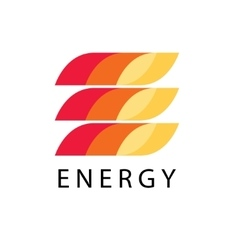 Energy power logo template leter e brand vector