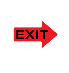exit icon for web and mobile exit sign vector image vector image