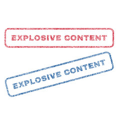 explosive content textile stamps vector image vector image