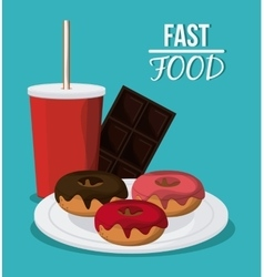 Fast food design menu icon Colorful vector image vector image