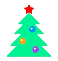 fir tree with toys vector image vector image