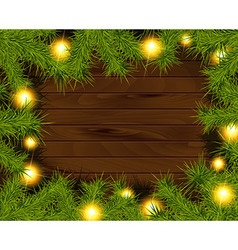 Frame of detailed Christmas tree branches vector image vector image