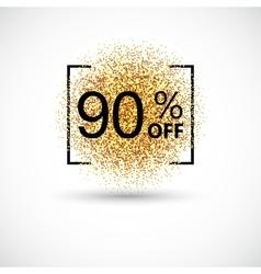 Gold big sale background in frame vector