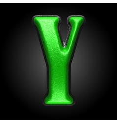 green plastic figure y vector image
