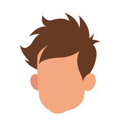 head faceless male young hair style vector image vector image