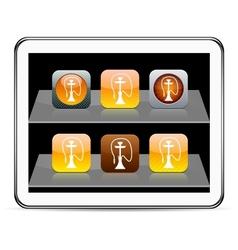 Hookah orange app icons vector