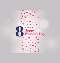 international womens day celebration poster design vector image vector image