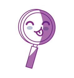 Kawaii magnifying glass icon vector