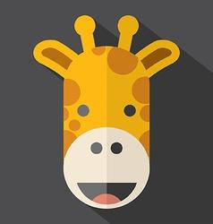 Modern Flat Design Giraffe Icon vector image vector image