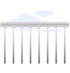 openwork arch concrete bridge transport vector image