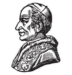 Pope leo xiii - side portrait vintage vector