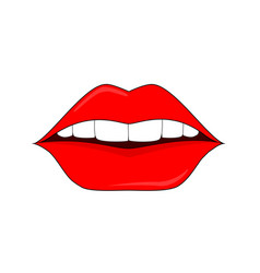 Red lips logo for the beauty salon permanent vector
