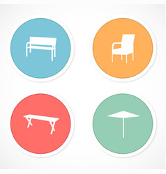 Retro stickers with icons vector image
