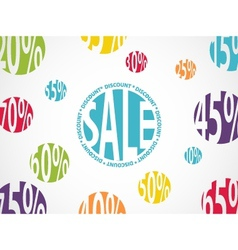 Sale background with discount vector