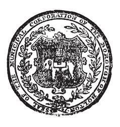 Seal wich represent bolton or bolton le moors vector