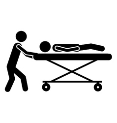 Sick or injured patient icon image vector