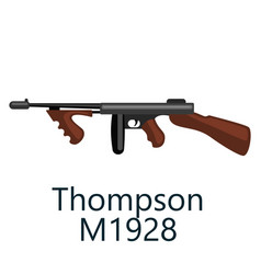 Thompson machine gun favorite weapon of gangsters vector