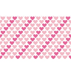 Valentine seamless polka dot pattern with hearts vector