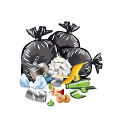 Waste isolated on white vector image vector image