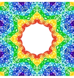 Rainbow kaleidoscope colorful background vector image