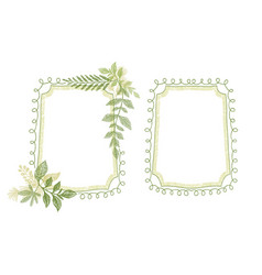 green floral scrabble leaves frame vector image