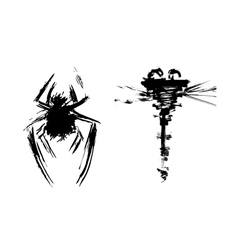 Abstract insects vector