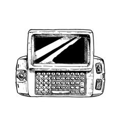 Wide slider phone vector