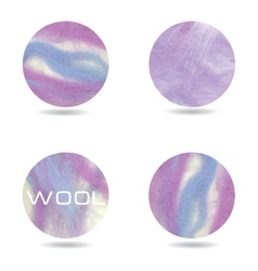 Abstract purple colorful background sheep wool vector