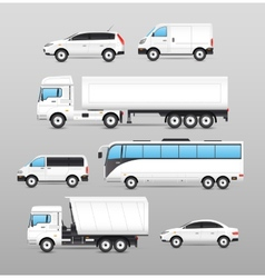 Realistic transport icons set vector