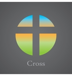 Cross within a circle vector