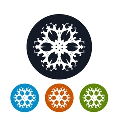 Icon of a snowflake merry christmas vector
