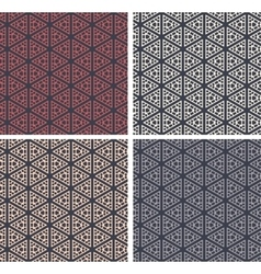 Set of colorful geometric pattern background vector image