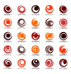 circle shapes vector image