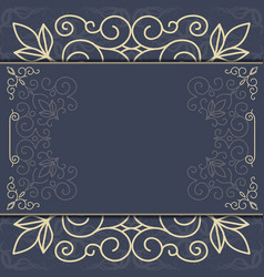 Elegant ornate background ornament for invitations vector
