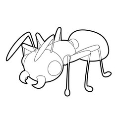 Ant icon outline style vector