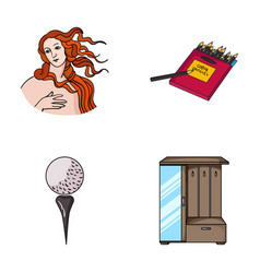 Art sport and other web icon in cartoon style vector
