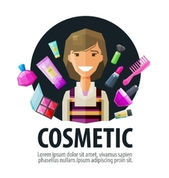 Beauty salon cosmetic logo design template vector