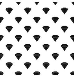 Brilliant gemstone pattern vector