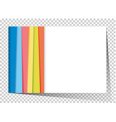 Businesscard template with rainbow in background vector