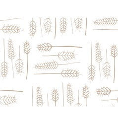 Cereal Plant Seamless Pattern vector image vector image