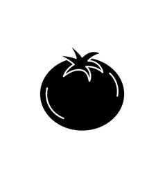 Contour delicious and health tomato vegetable vector