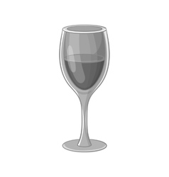 Glass of wine icon black monochrome style vector image vector image